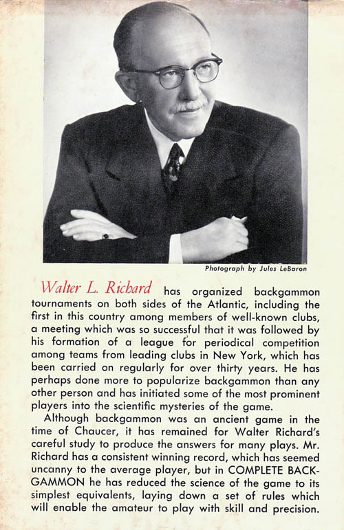Walter L. Richard bio