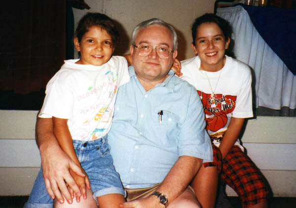 Peter Kalba and the kids in Costa Rica 1993